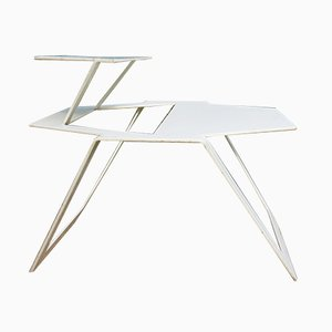 Vintage White Metal Modern Design Table