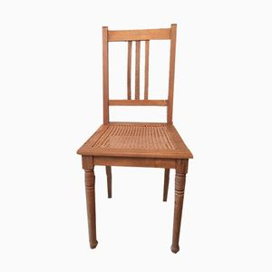 Antique Natural Wood Finish Chair