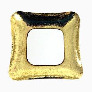 Österreichischer Vintage Spiegel mit Messingrahmen von Wilhelm Seidl für Metallwerkstatt Seidl, 1950er