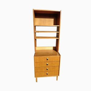 Vintage Wooden Bookcase with Shelves, 1970s
