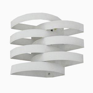 Applique in metallo bianco di Max Sauze, Francia, anni '70