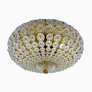 Ceiling Lamp with Glass Flowers, 1960s