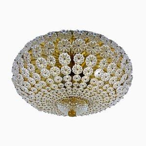 Lámpara de techo con flores de vidrio, años 60