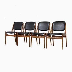 Vintage Ella Esszimmerstühle von Arne Vodder für Vamo Sønderborg, 4er Set