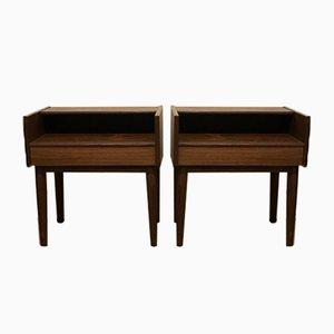 Danish Rosewood Bedside Tables by Melvin Mikkelsen for Pandrup, 1960s, Set of 2