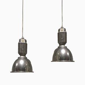Grande Lampe d'Usine Industrielle par Charles Keller pour Zumtobel, 1980s