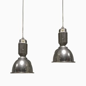 Large Industrial Factory Lamp by Charles Keller for Zumtobel, 1980s