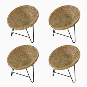 Vintage Rattan Basket Chair