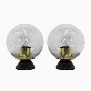 Lámparas de mesa Mid-Century, años 80. Juego de 2