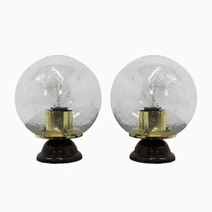 Mid-Century Table Lamps, 1980s, Set of 2