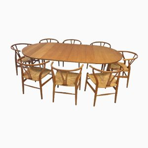 Vintage Dining Set by Hans J. Wegner for Carl Hansen & Søn, 1971