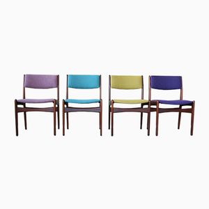 Model 141 Dining Chairs by Poul M. Volther for Frem Røjle, 1960s, Set of 4