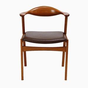 Modell 49 Armlehnstuhl aus Teak von Erik Kirkegaard für Høng Stolefabrik, 1950er