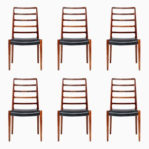 Model 83 Rosewood Dining Chairs by Niels Moller for J.L. Mollers, 1970s, Set of 6