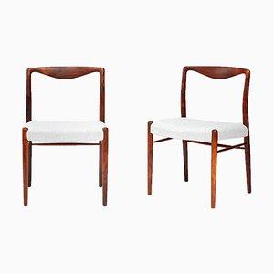 Chaises d'Appoint en Palissandre par Kai Lyngfeldt-Larsen pour Søren Willadsen Møbelfabrik, 1960s, Set de 2