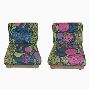 Vintage Psychedelic Lounge Chairs, Set of 2