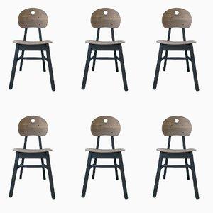 Mattschwarze Vintage Stühle aus Buche