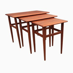 Tables Gigognes Modernes en Teck, Danemark, 1960s, Set de 3