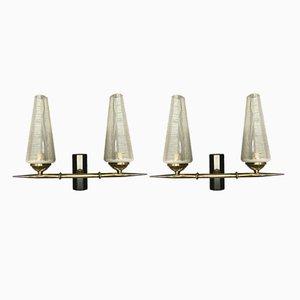 Lámparas de pared de Lunel, años 50. Juego de 2