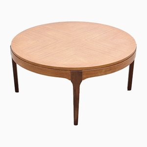 Mid-Century Round Teak Coffee Table
