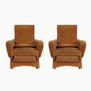 Italian Pink Velvet Lounge Chairs, 1970s, Set of 2