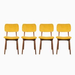 Esszimmerstühle aus Teak, 1950er, 4er Set
