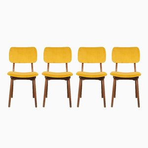 Teak Dining Room Chairs, 1950s, Set of 4