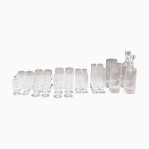 Crystal Glass Set with Carafe and Bottles, 1930s, Set of 44