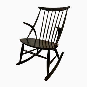 Rocking Chair par Illum Wikkelso pour Niels Eilersen, 1950s