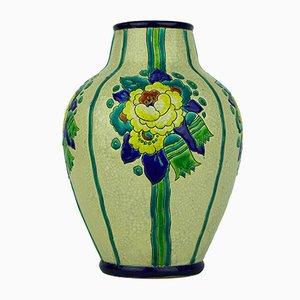 Art Deco Vase von Boch La Louviere, 1938