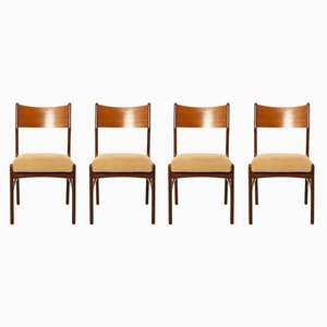 Vintage Dutch Rosewood Dining Chairs, Set of 4
