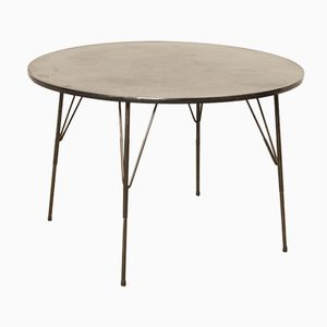 Vintage Black Round Table by Rudolf Wolf for Elsryk