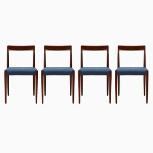 Vintage Rosewood Dining Chairs from Lübke, Set of 4
