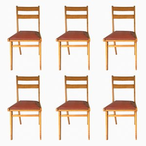Vintage Chairs, 1960s, Set of 6