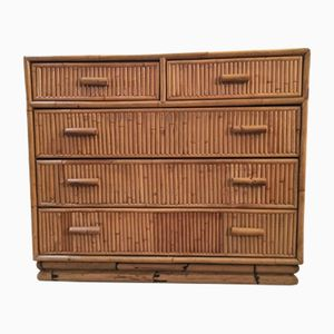 Vintage Bamboo Chest of Drawers