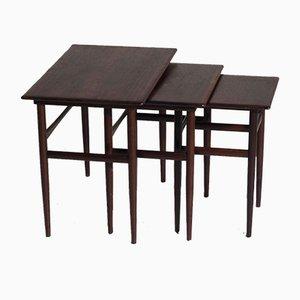 Tavolini ad incastro in palissandro, anni '60