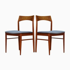 Dänische Stühle aus Teak von Henning Kjaernulf für Vejle Møbelfabrik, 1960er, 2er Set