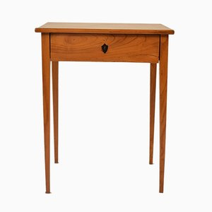 Antique Biedermeier Ash Side Table
