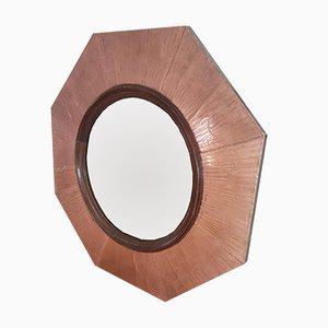 Sechseckiger Spiegel mit Rahmen aus Kupfer, 1963