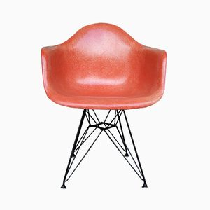 Coral Fiberglass Armchair with Eiffel Base by Charles Eames for Herman Miller, 1957