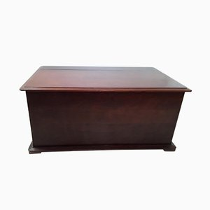 Antique Flat Top Mahogany Chest
