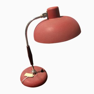Mid-Century Italian Red Desk Lamp, 1950s