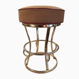 Vintage Revolving Brass Stool from Gasser Chair Co.