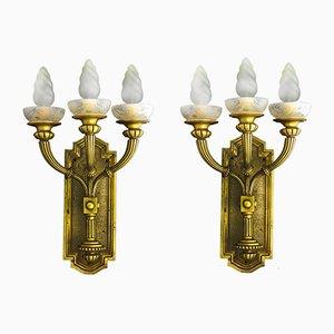 Lámparas de pared españolas Art Déco, años 30. Juego de 2