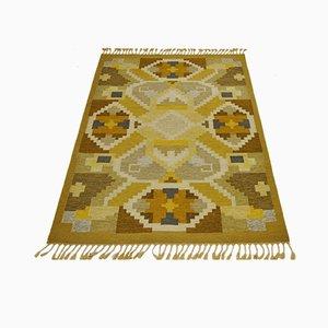 Schwedischer Vintage Röllakan Teppich von Ingegerd Silow