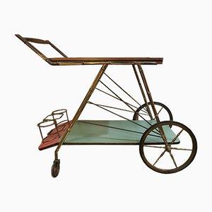 Chariot de Bar Vintage en Laiton