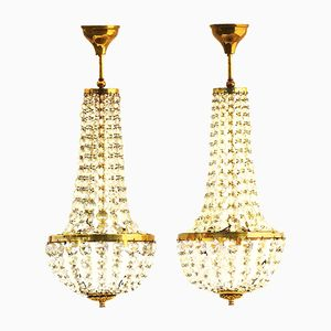 French Chandeliers, 1900s, Set of 2