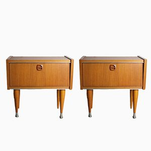 French Bed Side Cabinets, 1960s, Set of 2