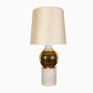 Vintage Gold Ceramic Table Lamp by Bitossi for Bergboms, 1960s