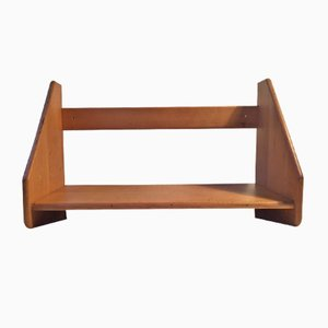 Wall-Mounted Beech Shelf by Hans J. Wegner for FDB, 1970s